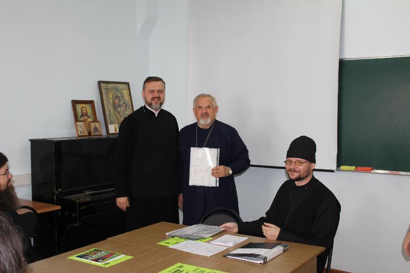 Вручение удостоверений о повышении квалификации священнослужителям Волгоградской Епархии