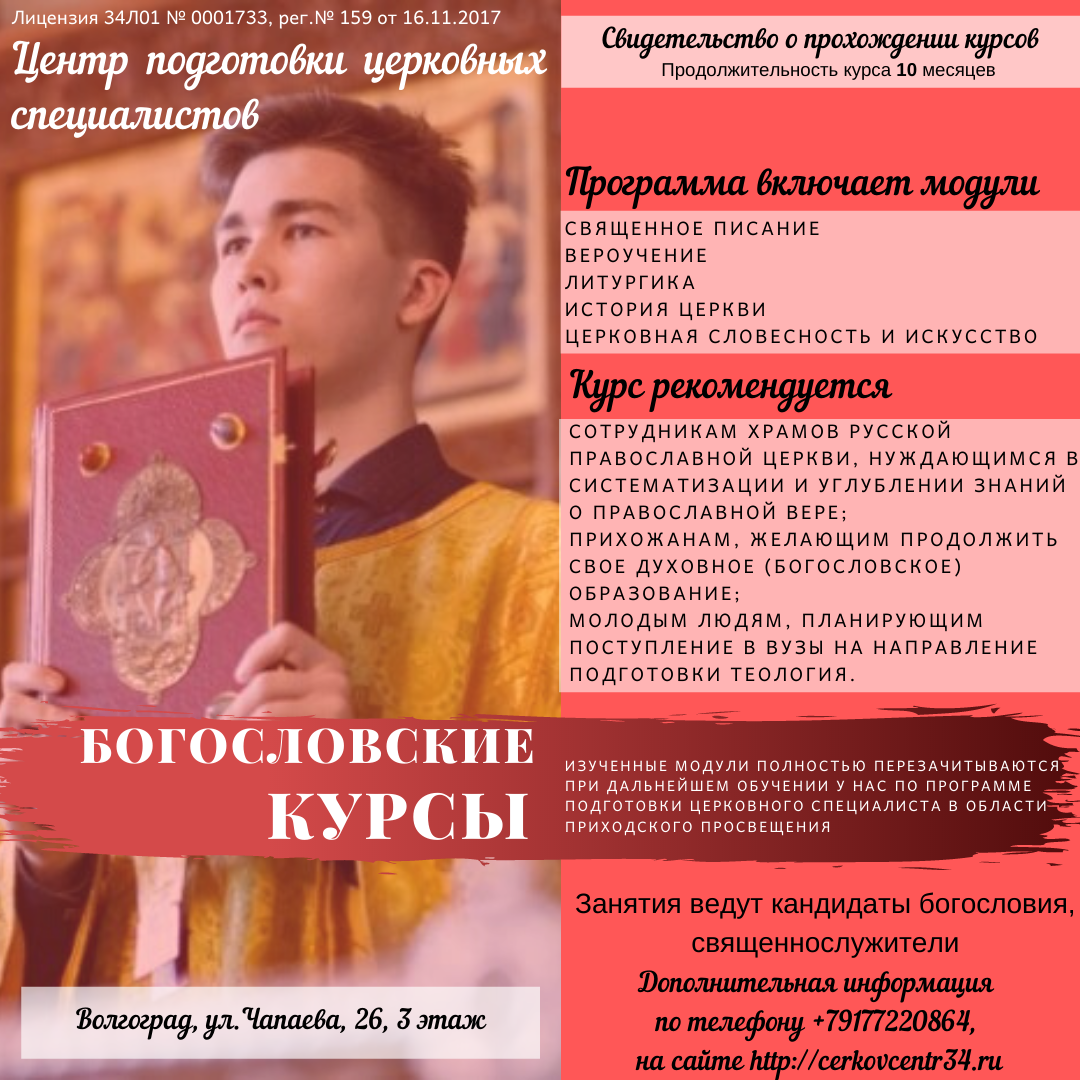 Богословские курсы 2020
